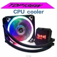 Liquid Freezer Water Liquid Cooling System CPU Cooler Fan Radiator kit Fluid Dynamic Bearing 120mm Fan with Blue LED Light