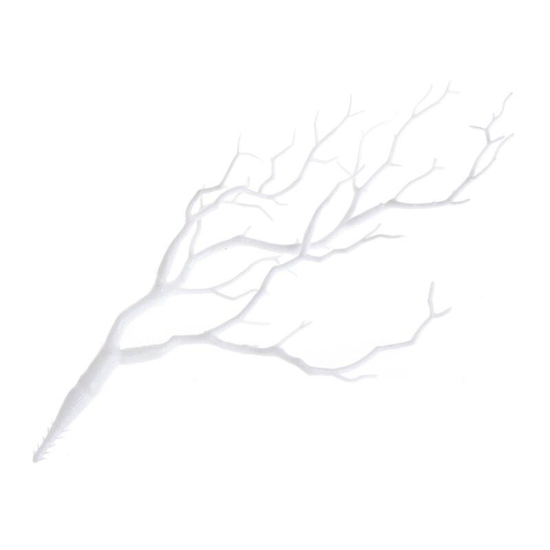 Свадебные украшения павлин коралловые ветви пластиковые искусственные растения сушеное дерево M15 - Цвет: White