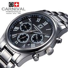 Carnaval de acero completo de buceo militar impermeable de los deportes de moda relogio del reloj de mens mecánico relojes de marca de lujo casual masculina ejército