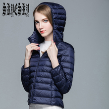 ultra light down jacket women Camperas parkas mujer invierno 2016 winter coat hooded jaqueta feminina