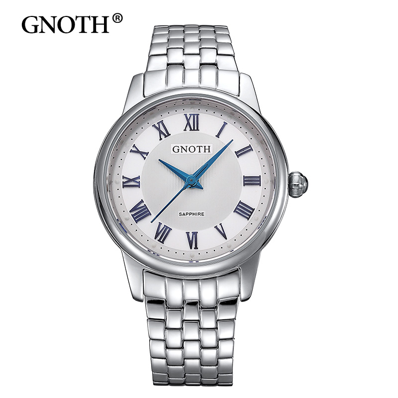 GNOTH Elegant Ladies Silver Watches 2017 New Arrival Women Watches Brand Fashion Famous Waterproof 30m Quartz Clock Hot Gift Box fashion elegant m