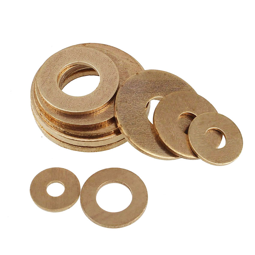 GB97 M2 M2.5 M3 M4 M5 M6 M8 M10 M12 M14 M16 M18 M20 Brass Washer Brass Flat Washer Thickness 0.4/0.5/0.8/1/1.2mm image