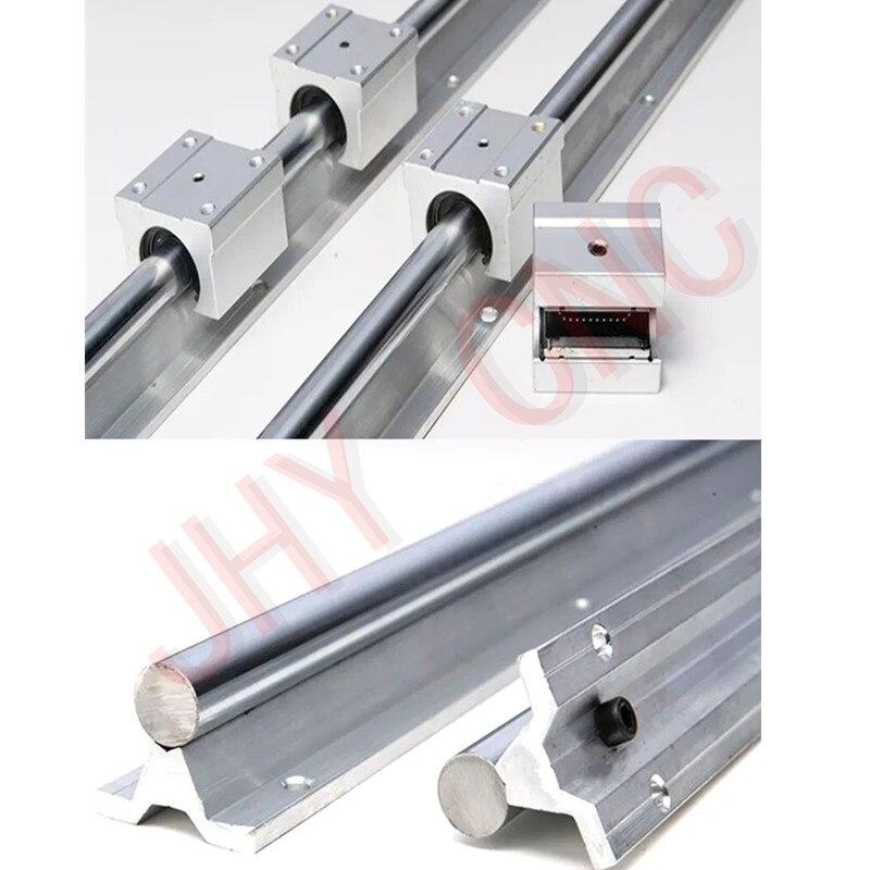 6 sätze linearschiene SBR20 L300/1000/1500mm + 3 stücke Ball schraube RM1605-L 350/1050/1500mm + 3 stücke RM1605 Ballscrew Ballnut für CNC