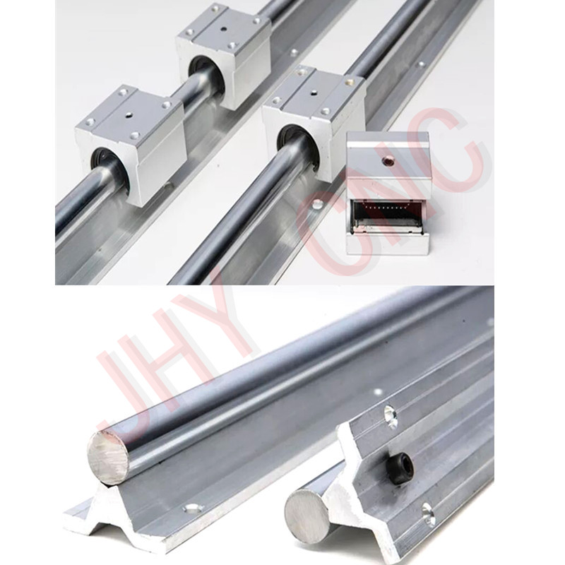 6 sets linear rail SBR20 L300/1000/1500mm + 3 piezas tornillo RM1605-L 350 /1050/1500mm + 3 piezas RM1605 Ballscrew Ballnut para CNC