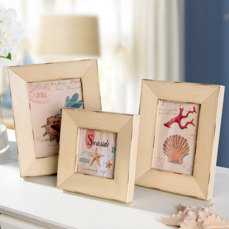 Seaside Series Vintage Photo Frame Four Sizes 4/6/7/10 Inch Wood ...