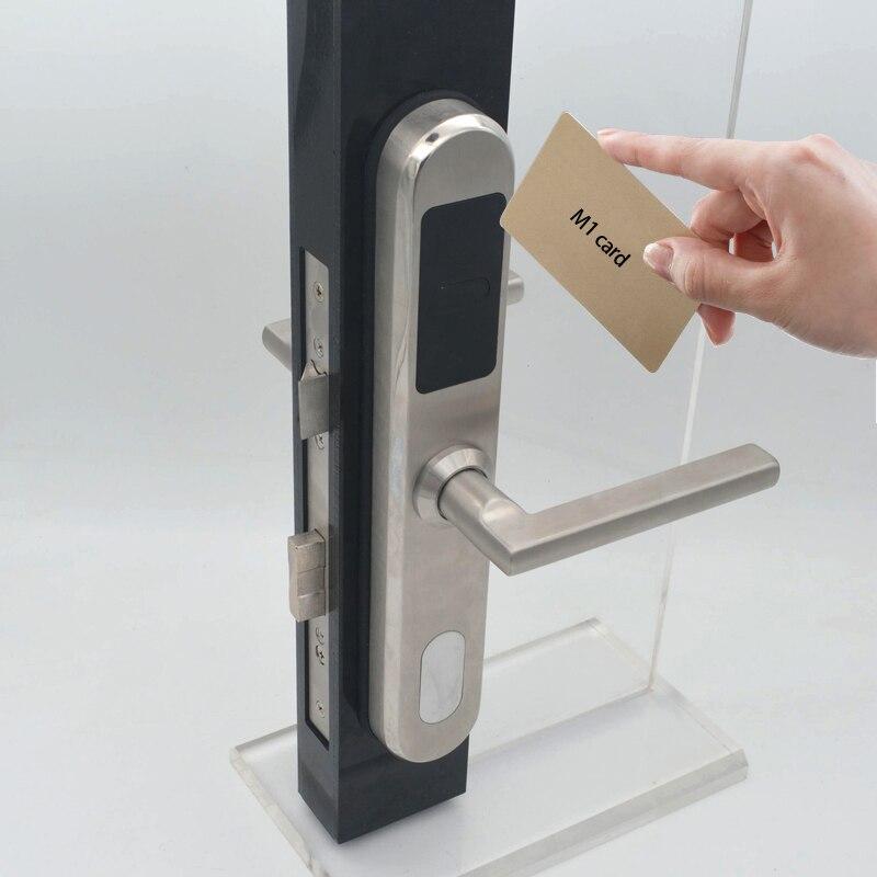 Europese stijl Elektronische RFID Deurslot Swipe Card Unlock fit 30mm dikte deur