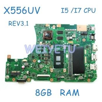 X556UV MB._8G/I5-6200U Motherboard For ASUS X556U F556UV FL5900U W/ i7-6500 CPU 920MX 2G onboard 8GB RAM Mainboard