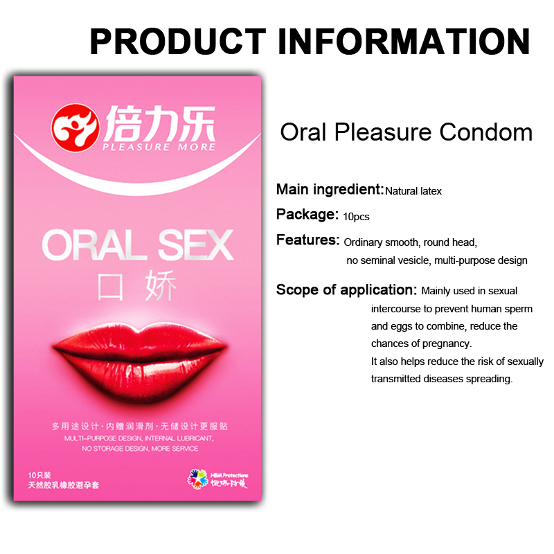 Beilile 10PCs Oral Sex Condoms With Peach Taste Safe Sex Penis Sleeve Condom Intimate Goods Tongue Sex Lick Dick Toys For Men in Condoms from Beauty Health