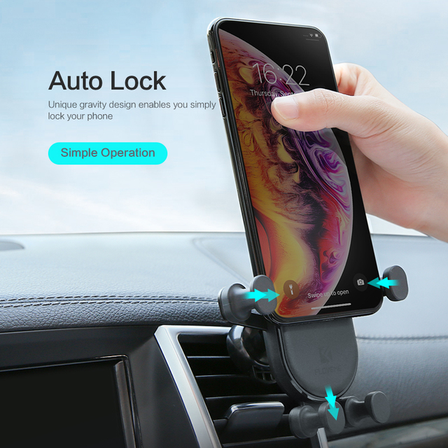 Gravity Designed Automatic Lock Car Phone Holder