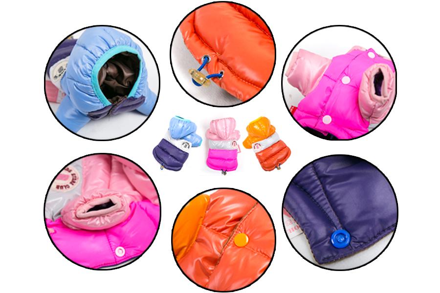l Dogs Waterproof Clothes Pet Coat Cotton Puppy Clothes