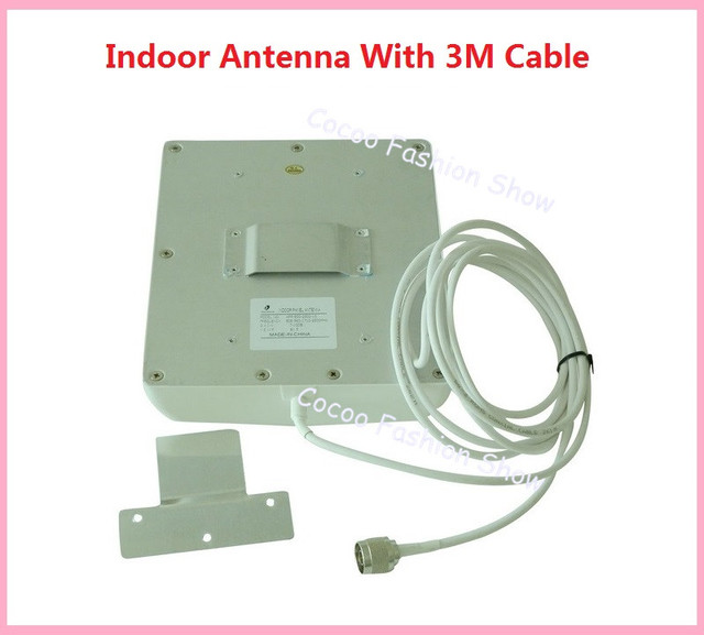 Free shipping 2pcs/lot 2G 3G Internal Antenna for GSM WCDMA CDMA DCS PCS Signal Repeater Indoor Panel Antenna with 3m cable