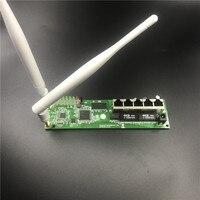OEM 5 port wireless router motherboard module custom screw hole metal shell broadband fast home kit 2.4G wireless4 module router