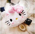 Kitty Hello short fluffy super cute cosmetic bag  Unique shape design  ultra-large capacity  Three colors to choose from