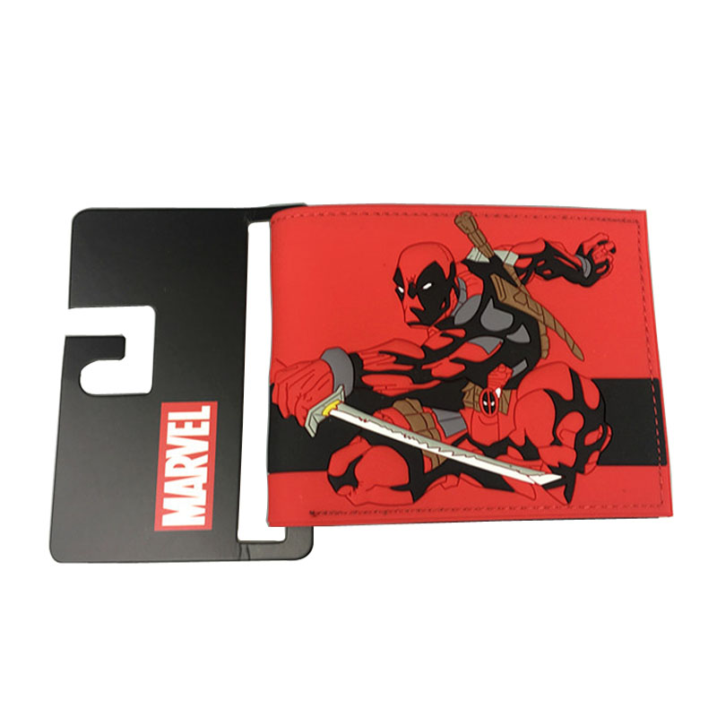 Comics Marvel Deadpool Purse Anime Captain America Spider-man Dead Pool Wallets carteira masculina Super Heroes PVC Short Wallet dc marvel comics wallets cartoon anime iron man spiderman captain america hulk creative gift purse kids folder short wallet