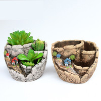 Creative Gardens Fleshy Flowerpots Plants Landscapes Home Furnishing Desktop Weaving Collocation Craft Gifts Cement Flower Pots