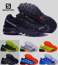 7eca3a483d Calçados salomon zapatos hombre Tênis Dos Homens Velocidade Cruz 3 4 CS  Speedcross III sapato masculino Salomon running Shoes 40.