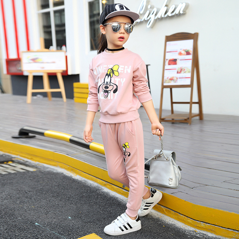 Thumbaby Autumn Baby Girls Clothing Sets Girls Hiphop Fashion Clothes Suits Cotton Sports Clothes Kids Suits