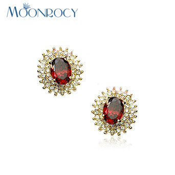 Aliexpresscom Buy MOONROCY Zirconia Free Shipping Rose Gold Color