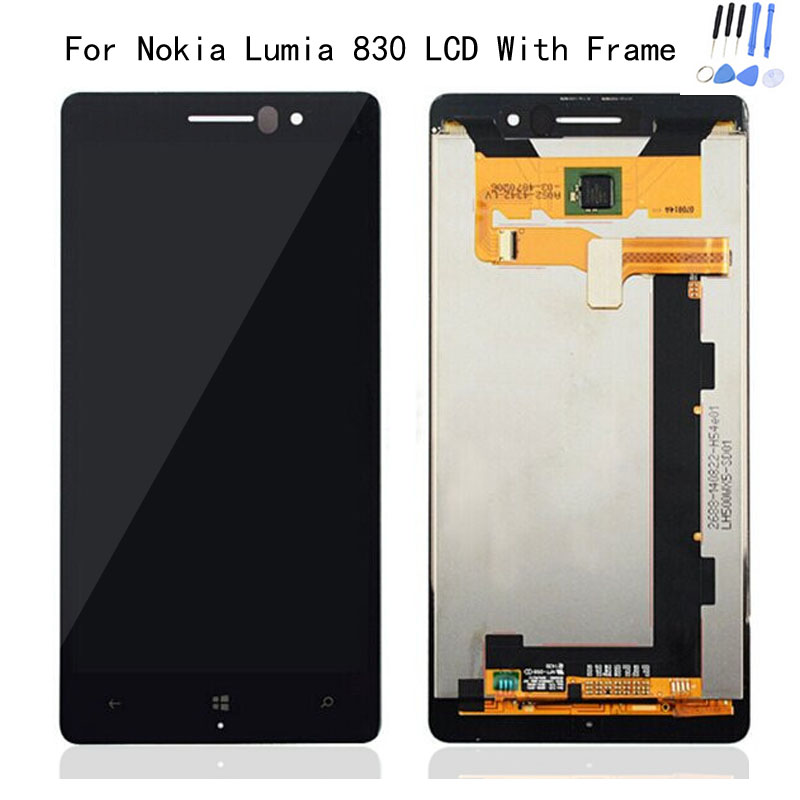 Здесь можно купить  Hot Sale 100% Test N830 LCD Cover For Nokia Lumia 830 LCD Display + Touch Screen Digitizer Assembly + Frame +Tools Free Shipping Hot Sale 100% Test N830 LCD Cover For Nokia Lumia 830 LCD Display + Touch Screen Digitizer Assembly + Frame +Tools Free Shipping Компьютер & сеть
