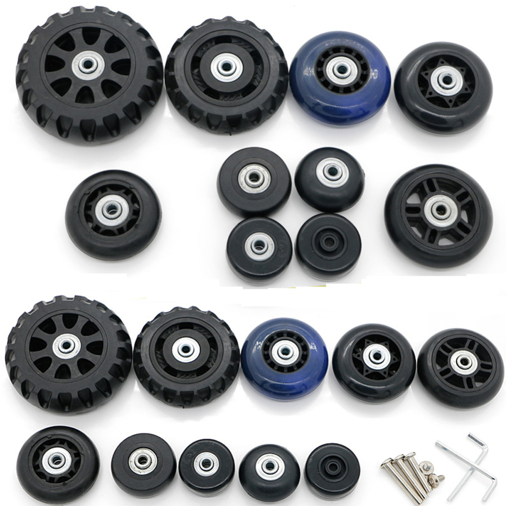 Suitcase Wheels Repair Replacement Parts for Luggage 360 Spinner Upright Mute High Quality Wheels for Suitcases 1 PCS new luggage replacement wheels suitcase repair replacement parts 360 spinner upright mute high quality wheels for suitcases 2pcs