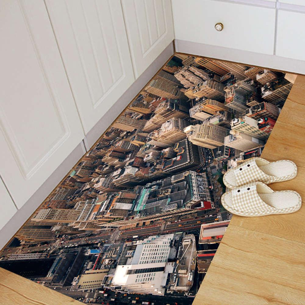 Kreative 3d Rutschfeste Boden Aufkleber New York Szene Muster