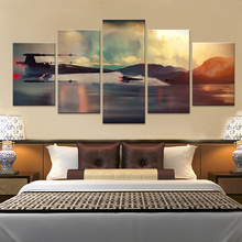 цена на Wall Art Modular Canvas Living Room Home Decor Abstract Poster Frame 5 Pieces Movie Star Wars Painting HD Prints Pictures PENGDA