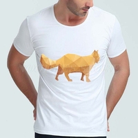 6024 Cute Animal Style Mens T Shirts Short Sleeve O Neck White Cotton Spandex Summer Cool