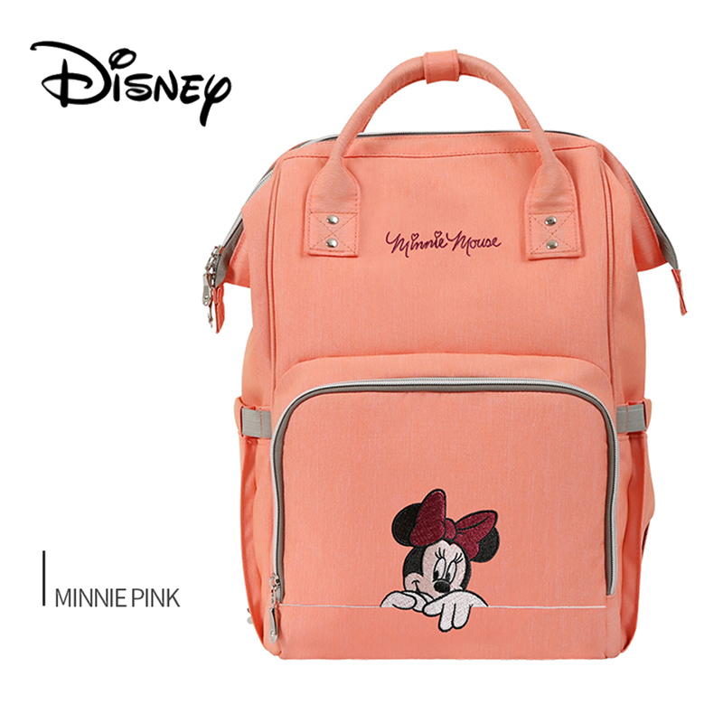 Disney Baby Diaper Bags Mickey Mummy Bolsa Maternity Nappy Diaper Stroller Bag Insulation Bebek Bakim Cantalari Travel Backpack