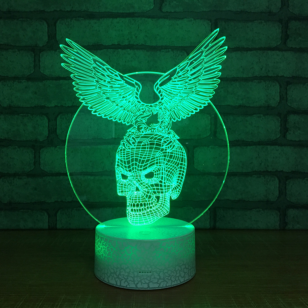 Acrylic Usb Table Lamp Remote Touch Switch White Base Lovely 7 Color Change 3d Lamp Christmas Decorations Gift For Baby Room 100% Original