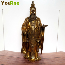 Bronze Chinese ancient characters Wencai Shen Fan sculpture traditional offerings Fortune Fortuna interior decoration or