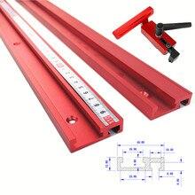 Желоб из алюминиевого сплава Т-треки модель 45 т слот и стандартный Торцовочная дорожка стоп деревообрабатывающий инструмент для верстака маршрутизатор стол