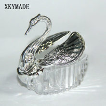 12PCS/LOT Swan Wedding Candy Box Elegant Wdding Favor Box(China)