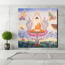 Thai Buddha Art Canvas Painting Print Living Room Home Decoration Modern Wall Oil Poster Pictures Framework ArtworK
