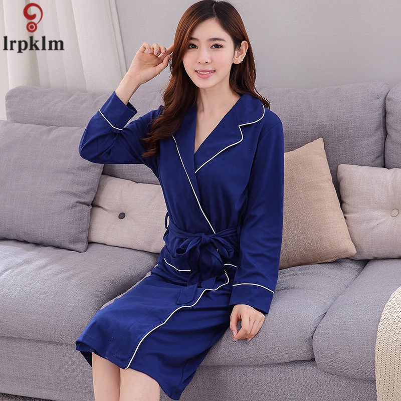 Europe United States sexy nightdress spring and autumn womens long-sleeved large size co ...