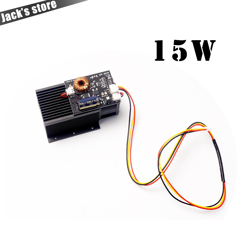 15W Laser,High Power Diode Laser Focusable Blue Laser Module 450nm With TTL Driver For Laser Cutter Engraving Machine 15000mW