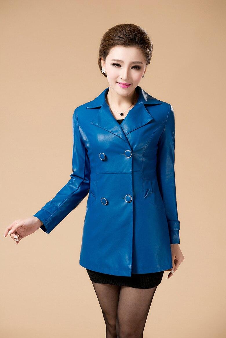Leather jacket xl size - High Quality Leather Jacket Women Large Size 6 Xl 2017 Long Plus Size Leather Clothing Female Outerwear Ladies Jackets And Coats