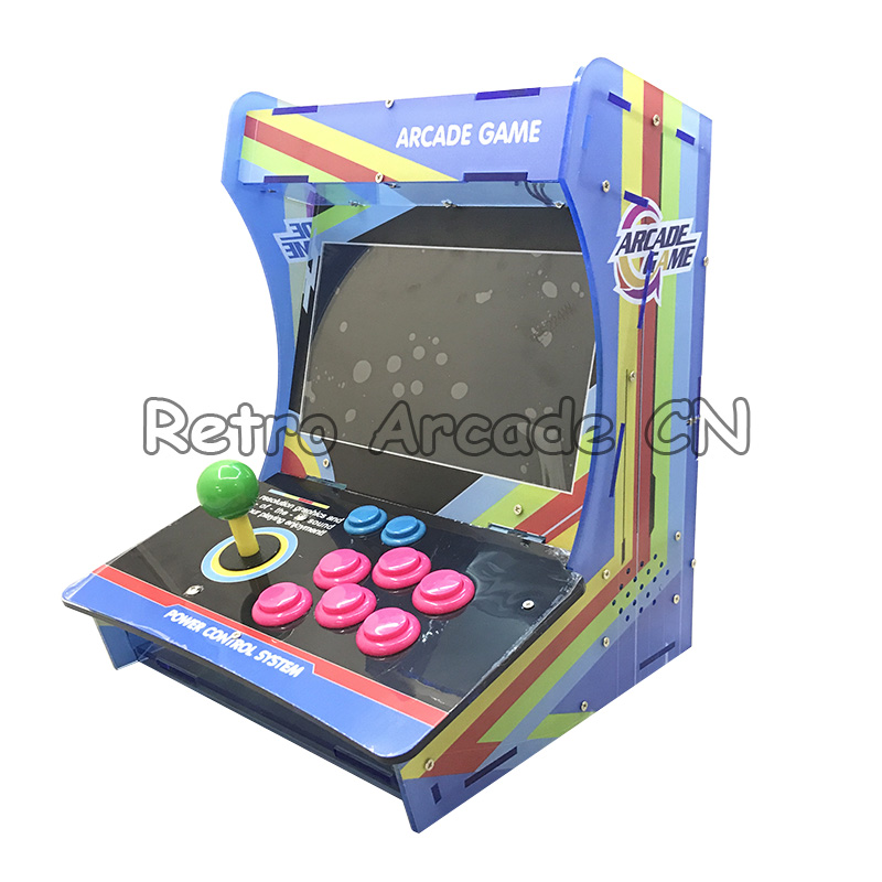 """5s 1299 in 1 Jamma console with 10"""" inch LCD Mini arcade game machine Acrylic Cabinet arcade console joystick for 1 player"""