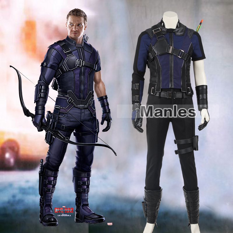 Clint Barton Hawkeye Cosplay Costume Captain America Civil War Hawkeye Costumes Adult Superhero Suit Halloween Cosplay Clothing