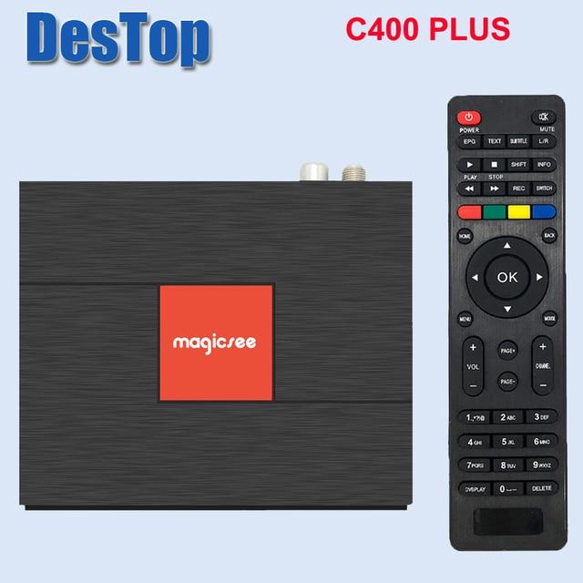Magicsee C400 Plus Amlogic S912 Octa Core TV Box 3+32GB Android 4K Smart TV Box DVB-S2 DVB-T2 Cable Dual WiFi Smart Media Player