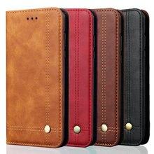 Rezzol For Xiaomi mi 8 lite Case Luxury Leather Retro Stand Wallet Flip Cover mi8 Magnetic Filp Fundas
