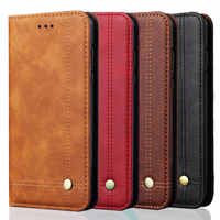 Rezzol For Xiaomi mi 8 lite Case Luxury Leather Retro Stand Wallet Flip Cover Case For Xiaomi mi8 lite Magnetic Filp Fundas