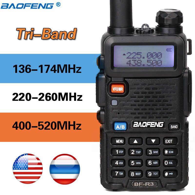 Baofeng BF-R3 трехдиапазонная рация 136-174/220-260/400-470 МГц любительский ветчина портативный любительский радиопередатчик Comunicador приемопередатчик