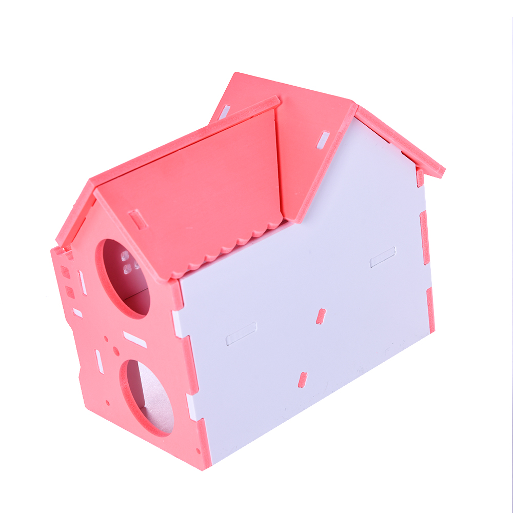 Wooden House Guinea Pig Mice Stairs Cockloft Small Pet Playing Watching Stage Wooden Cages Hamster  (13)