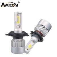H1 H4 LED 12 V הנורה רכב S2 מיני 8000lm פנס H8 H9 H11 9005 HB3 9006 HB4 COB 72 W 6000 K 24 V מנורת אור ערפל רכב אוטומטי LED H7
