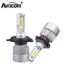 H1 H4 светодиодный 12 В 8000lm мини-автомобиль лампы фар H8 H9 H11 9005 HB3 9006 HB4 COB 72 Вт 6500 К 4300 К 24 В светодиодный H7 авто лампы автомобилей противотуманные