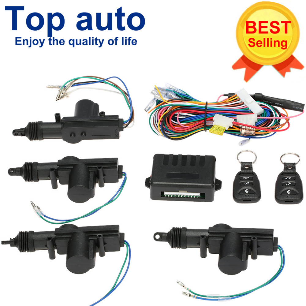 Car Door Central Locking Actuator With Remote Control Starline Power Lock Signaling Keyless Entry Kit Security Car Alarm System
