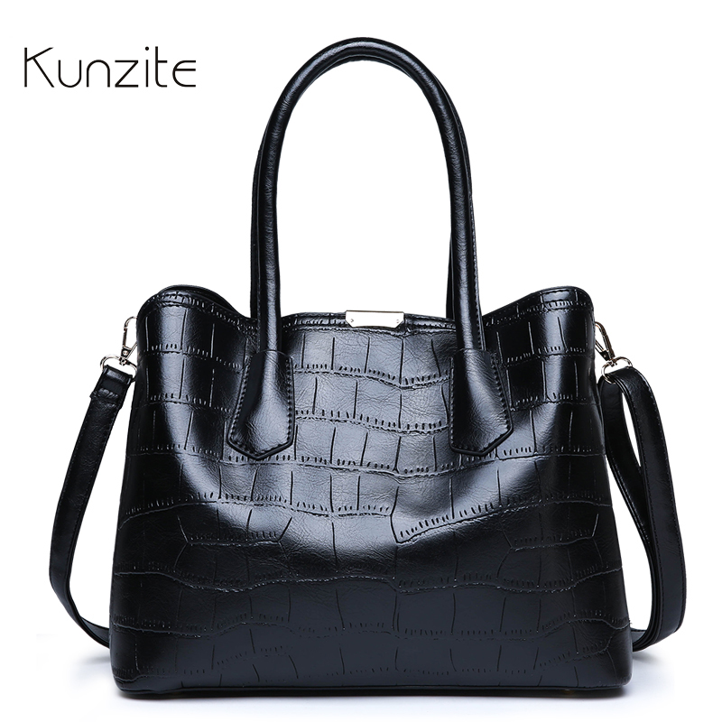 KUNZITE Women s Alligator Leather Handbags Designer Daily Casual Tote Sling Bag For Ladies And Girls