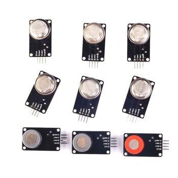 MQ Sensor Gas Detector Module MQ-2 MQ-3 MQ-4 MQ-5 MQ-6 MQ-7 MQ-8 MQ-9 MQ-135 each of them 1pcs total 9pcs sensor Kit
