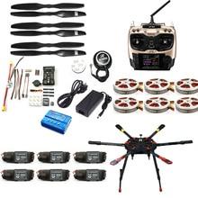 Full Set Hexacopter GPS Drone Aircraft Kit Tarot X6 6-Axis TL6X001 PX4 32 Bits Flight Controller Radiolink AT9S TX&RX F11283-C