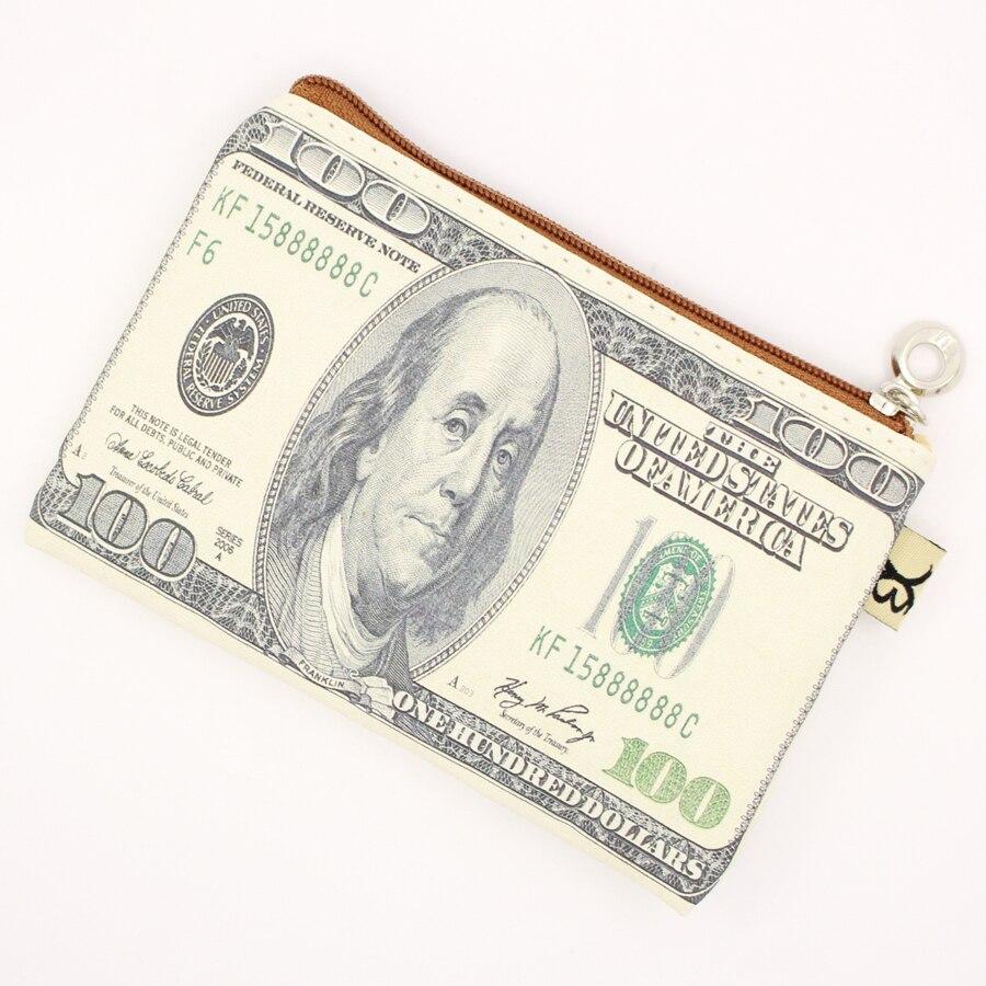 Banknote pattern Canvas coin purses dollar wallet child girl women change purse,lady Fashion cute,coin bag canta bumazhnik pung